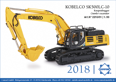 Conrad Kobelco SK500LC-10 Tracked Excavator US Version